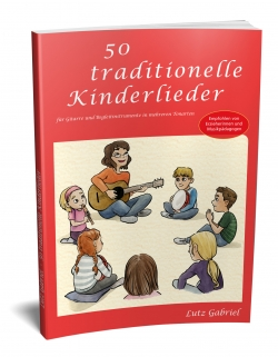 50 traditionelle Kinderlieder, Notenbuch mit Liedertexten